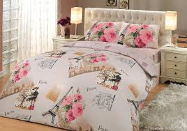 paris bedding set full bedroom feminine paris themed bedding with drawers and side ls