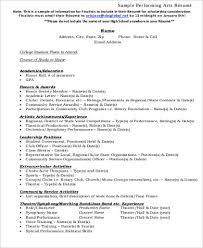 Sample Artist Resume by Sample Art Resume 9 Examples In Word Pdf