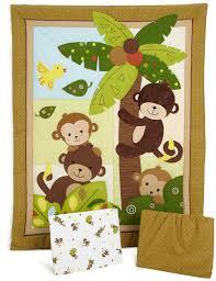 Monkey Baby Room Amazon Com Bedtime Originals 3 Piece Bedding Set Curly Tails