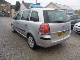 vauxhall zafira used silver vauxhall zafira for sale devon