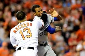 manny machado punches yordano ventura in bench clearing brawl