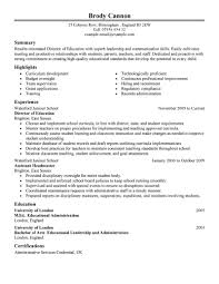 Resume Ongoing Education Best Director Resume Example Livecareer
