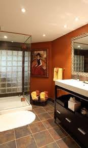 Bathroom Paint Designs 78 Best Orange Bathrooms Images On Pinterest Bathroom Designs