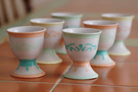 hand painted egg cups the sage owl