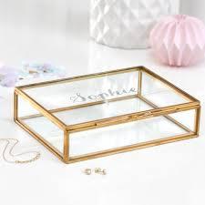 keepsake box personalized glass jewellery box personalized jewelry box wedding