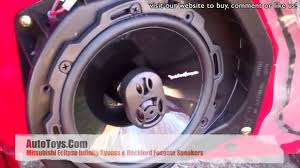 mitsubishi eclipse infinity amp bypass and rockford fosgate