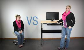 Standing Vs Sitting Desk Health Benefits Using An Adjustable Standing Desk