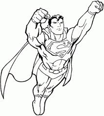 awesome free superman coloring pages