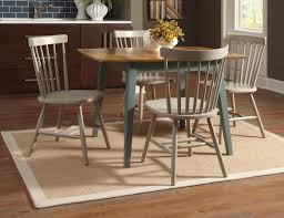 dining room vintage 5 piece dining set with green painted four