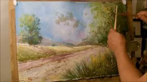 how to paint a landscape in water color youtube