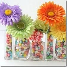 Candy Vases Centerpieces Do Peeps And Flowers For An Easter Centerpiece A Glass Inside The