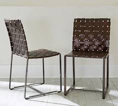 I Love The Woven Leather Nice Detail Thomas Leather Strap Side - Woven dining room chairs
