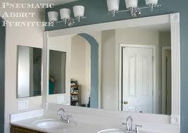 Mirror Trim For Bathroom Mirrors White Trim Bathroom Mirror Bathroom Mirrors Ideas