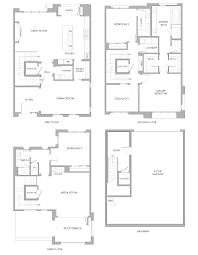 Tri Level Floor Plans Terraces Plan 2c Pasadena Perfected