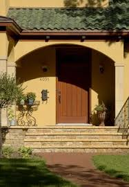yellow stucco with column detail house pinterest columns