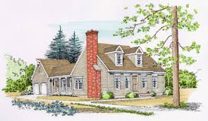 cape cod house plans with attached garage plan w4658pr for a narrow lot e architectural design