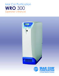 mar cor purification wro 300 h operator s manual