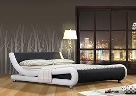 chambre design adulte lit vague lit design adulte virginie noir et blanc simili cuir