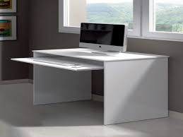 Minimalist Desktop Table by Luxury White Desk With Keyboard Tray 39 For Layout Design