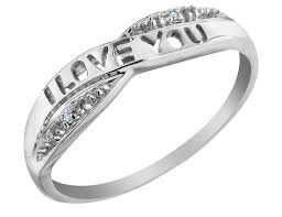 white gold promise rings i you diamond promise ring in 10k white gold my jewelry box