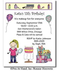 create invitations make up theme personalized party invitations by the personal