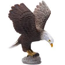 bird figures amazon com collecta wildlife american bald eagle toy figure