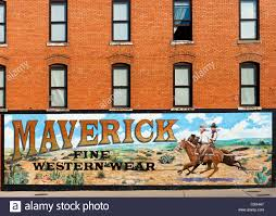 mural advertising maverick western wear on main street near mural advertising maverick western wear on main street near exchange avenue stockyards district fort