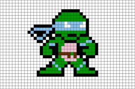leonardo ninja turtles pixel art u2013 brik