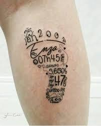 the 25 best baby footprint tattoo ideas on pinterest baby