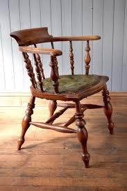 Antique Wooden Office Chair Antique Vintage Wooden Captains Chair Office Desk Chair Vinterior