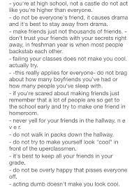 high school stuff freshman advice my happily after freshman