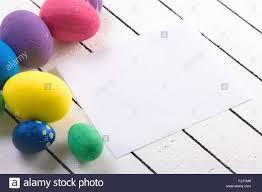 styrofoam easter eggs colorful ecological styrofoam easter eggs and blank white sheet of