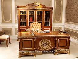 Solid Wood Executive Office Furniture by 0062 European Style Luxury Wooden Executive Office Desk Classic