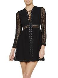 see through dropshipping personalized black lace up sheer long