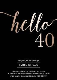 40th birthday invitation 40th birthday invitation with