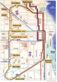 Downtown Chicago Map by Cta Floats Circle Line Plan