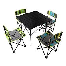 Outdoor Table And Chair Set Amazon Com Yodo 5 In 1 Foldable Kids Picnic Table And Chairs Set