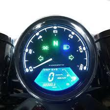 universal diy 12000 rpm lcd digital speedometer odometer