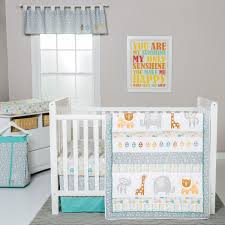 teal crib bedding set trend lab lullaby jungle 6 piece crib bedding set