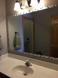 innovational ideas stick on bathroom mirror frames 2 easy to