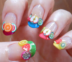 super adorable multicolor fimo fruit nail art youtube