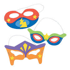 amazon com superhero masks craft kits makes 12 self adhesive
