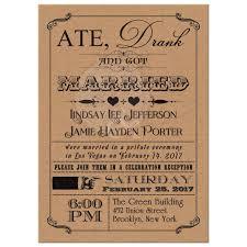 wedding invitations kraft paper post wedding invitation vintage poster scrolls kraft paper look