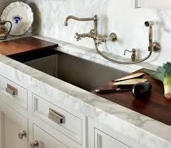 modern and classical kitchen faucet appear in a unique design