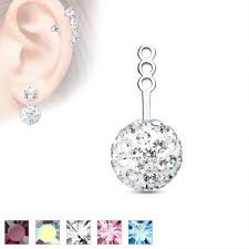 earring jacket 10mm paved earring jacket cartilage stud add on