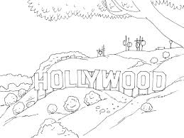 get the coloring page hollywood sign free coloring pages for