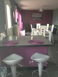 cuisine en violet stunning deco salon moderne violet ideas design trends 2017