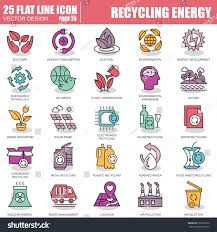 eco site thin line recycling waste management environmental stock vector