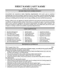 Superintendent Resume Examples by Senior Operations Superintendent Resume Template Premium Resume