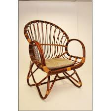 Rattan Accent Chair Vintage Bentwood Bamboo Rattan Accent Chair Chairish